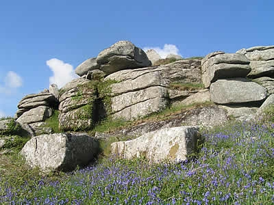 Helman Tor in the parish of Lanlivery